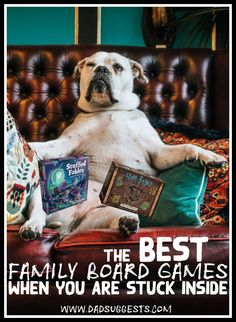 The best family board games to play if you're stuck inside. Whether it's a rainy day, a big blizzard, a long summer, or school was unexpectedly cancelled for a month - if you're looking for good family board games to pass a lot of time, look no further. Best Family Board Games, Board Games For Couples, Family Fun Games, Fun Board Games, Games To Play, Couples Game Night, Family Game Night, Rainy Day Games, Cool Gifts For Kids