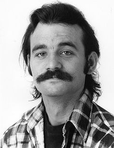 The very first pin of bill murray to this board. he is mustached here.
