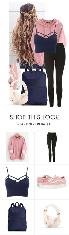 """I would lie and say that you're not on my mind"" by frootloop16 ❤ liked on Polyvore featuring Hannah Martin, WithChic, Topshop, Charlotte Russe, Vans, Tumi, Beats by Dr. Dre and plus size clothing"