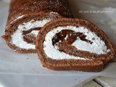 Rotolo nutella e panna un dolce di una golosità unica,ottimo per le feste di bambini o per il dolce della domenica
