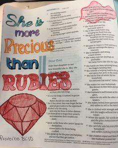 #biblejournaling #makingmywaythroughproverbs Proverbs 31 Wife, The Fool, Bible, Journaling, Biblia, Caro Diario, The Bible