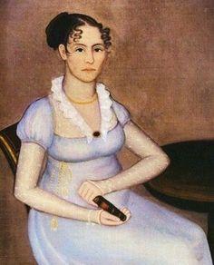 Ammi Phillips (American artist, 1788-1865) c 1814-19 Mrs. Crane