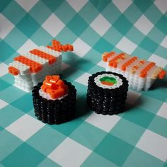 3D Sushi hama beads by aleggsp