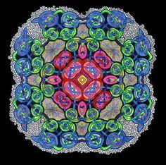 Mandala Celtic Knotwork Bright Flourescent by CelticMandala