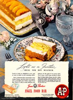 Jane Parker Angel Food Bar, the 1940's