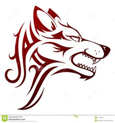 Wolf Head Tattoo - Download From Over 36 Million High Quality Stock Photos, Images, Vectors. Sign up for FREE today. Image: 47749543