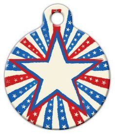 Patriotic Star Custom Pet ID Tag for Cats and Dogs Dog Tag Art SMALL SIZE *** Learn more by visiting the image link. (This is an affiliate link) Walker Hound, Dog Tags Pet, Personalized Tags, Unique Animals, Cat Collars, Cool Pets, Tag Art, Small Dogs, Pet Supplies