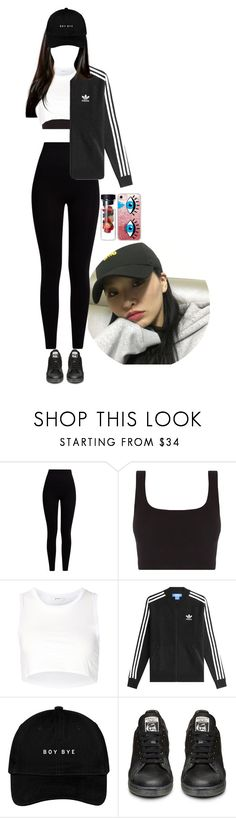 """Training"" by looklookf ❤ liked on Polyvore featuring Pepper & Mayne, Julien David, adidas Originals and Casetify"
