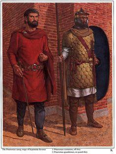 Richard Hook - Guardias Pretorianos romanos de la época de Séptimo Severo.