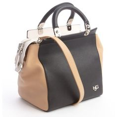 Givenchy Grained leather tri-color colorblock top handle bag ($1,410) ❤ liked on Polyvore