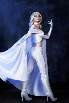 X-men Cosplay- Emma Frost by Alex-Willow on DeviantArt Marvel Women, Marvel Girls, Ms Marvel, Comics Girls, Captain Marvel, Cosplay Outfits, Cosplay Girls, Cosplay Costumes, Cosplay Ideas