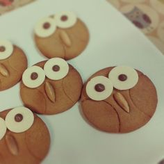 Owl gingerbread biscuits Themed Parties, Party Themes, Birthday Parties, Owl Party Food, Food Items, Food Art, Owls, Gingerbread, Woodland