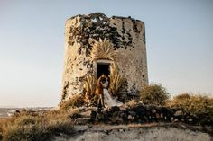 Fashion-Forward Destination Elopement with all the Pampas Grass under an Old Windmill Santorini Wedding, Greece Wedding, Old Windmills, Pampas Grass, Wedding Rentals, Green Wedding Shoes, Tie The Knots, Event Design, Mount Rushmore
