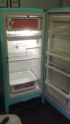 vintage GE refrigerator makeover