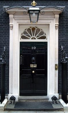 #10 Downing Street. The official residence of the Prime Minister in London.