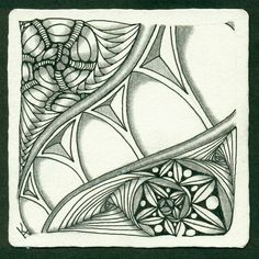 1 Art Lady Kate, Tangles and More: More on Weekly Challenge #155