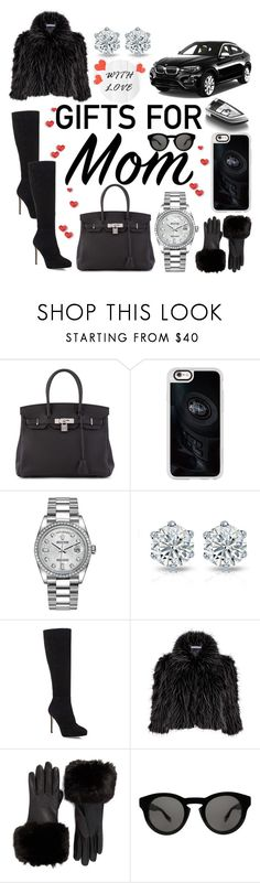 """""""Gift Guide: For Mom💋"""" by mandimwpink ❤ liked on Polyvore featuring Hermès, BMW, Casetify, Rolex, Jimmy Choo, Gina Bacconi, Ted Baker, Givenchy and giftguide"""