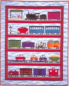 All Aboard Quilt Pattern - The Virginia Quilter