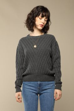 Rouje Pull JOY en laine gris chiné, French chic