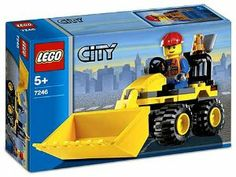 Lego City Set #7246 Mini-Digger by LEGO. $54.99. Great addition for the Lego City Collection. Contains 36 pieces. Raise and lower the shovel. Includes construction worker with tools. For ages 5 and up. Another building is being constructed in LEGO City, and it's your job to help make it happen! Use the mini digger to get the job done. You can raise and lower the shovel. Includes a construction worker with tools.