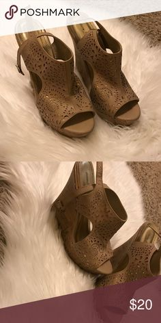 Charming Charlie wedges Worn twice! Too big for me :( Shoes Wedges