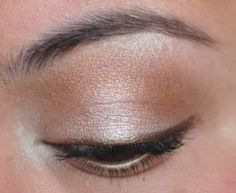natural neutral makeup with brown winged eyeliner