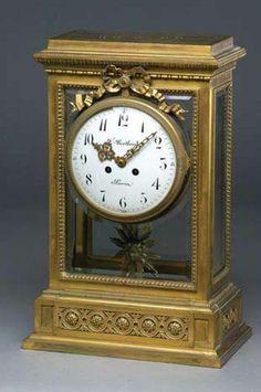 A fine quality 19th century French four glass mantel clock, F. Bertoud, Paris