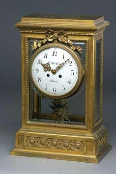 A fine quality 19th century French four glass mantel clock, F. Bertoud, Paris
