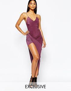 Image 1 ofClub L Cami Dress With Asymmetric Skirt
