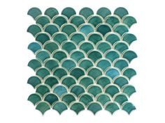 Bring the glistening movement of the sea into your space with these dazzling fish scale tiles by Mercury Mosaics. These elegant tiles are available online. Sea Colour, Light Blue Color, Color Tile, Mermaid Tile, Mermaid Bathroom, Fish Scale Tile, Mosaic Tiles, Mosaics, Tiling