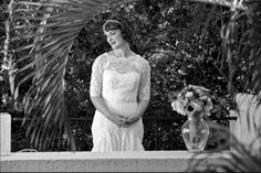 A vintage wedding in Miami 1.26.13 -- the bride before the ceremony