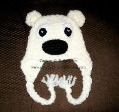 Polar Bear Beanie with optional Earflaps