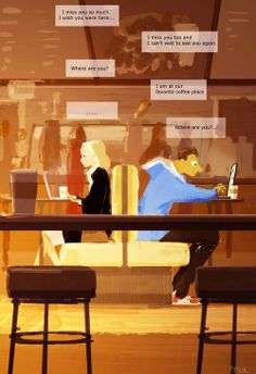 coffee shop. pascal campion art