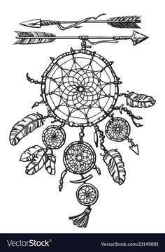 Find Native American Indian Dream Catcher Two stock images in HD and millions of other royalty-free stock photos, illustrations and vectors in the Shutterstock collection. Thousands of new, high-quality pictures added every day. Dream Catcher Art, Dream Catcher Tattoo, Feather Dream Catcher, Arrow Tattoos, Feather Tattoos, Tattoo Indio, Dream Catcher Coloring Pages, Tattoo Arm Designs, Native Tattoos