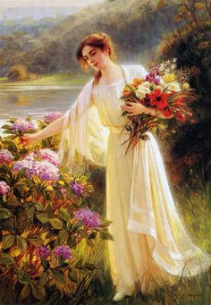 Albert_Lynch_(1851-1912)_Gathering_Flowers.jpg (692×1000)