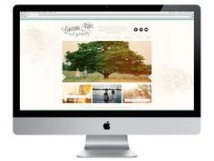 I like the logo, text and social media at the top!   Lauren Fair Website || 315 Design