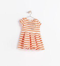 ZARA - KIDS - STRIPED DRESS WITH TEXT
