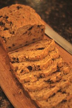 Chocolate Stout Beer Bread!  ,I can certainly see this since stout is 'chocolately/smoky' in flavor. I once did a white chocolate porter (small stout) cheesecake!