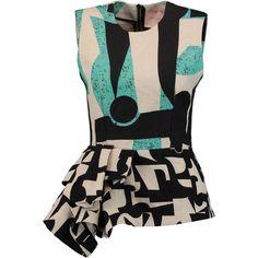 See this and similar Roksanda blouses - Roksanda multicolored Valmar top. Printed woven linen and cotton-blend. Ruffled peplum. Two-way zip fastening through ba...