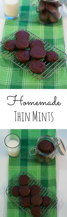 Homemade Thin Mint Cookies from The Girl In The Little Red Kitchen