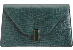 Green Pebbles A Passion for Luxury Fashion and Watches: EMERALD GREEN PANTONE COLOUR OF THE YEAR - OUR CLUTCHES SELECTION - VALEXTRA ISIS      http://www.greenpebblesblog.com/2013/01/emerald-green-pantone-colour-of-year_2.html#
