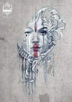 Black Work Tattoo Designs | ... tattoo | geometric butterfly by daniel meyer # tattoos tattoo designs