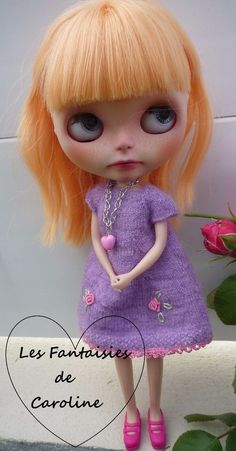 Robe Blythe + Collier Fait main/ Made in France Blythe's dress+necklace