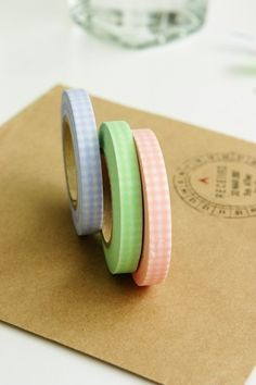 Pastel Gingham Japanese Washi Tape