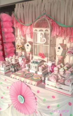 Pajaritos estilo romántico birthday party ideas ideas para f Bird Birthday Parties, 1st Birthday Girls, Kids Planner, Baby Shower Photography, Glamour Party, Barbie Theme, Bird Party, Baby Shower Desserts, Shower Party