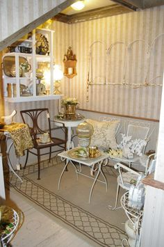 The white French room at The Side Track Shops in Glendale, Ky.