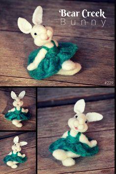 Bear Creek Bunny #229 needle felted by Teresa Perleberg