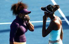 Venus lost to Maria Sharapova in singles but she and sister Serena are still in the doubles tournament. #ausopen #tennis #doubles
