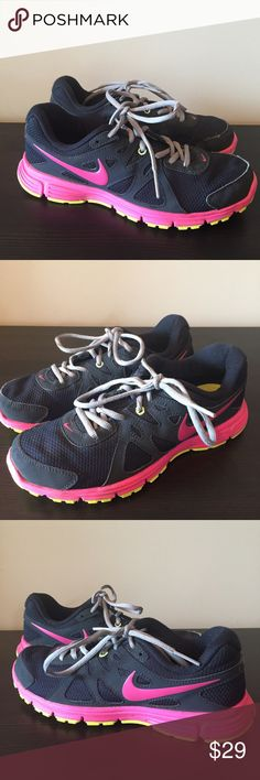 27522ff5443 Nike Revolution 2 navy pink running shoes