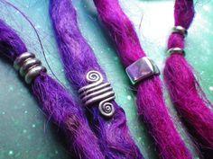 Silver Spiral Dread bead set katrien L